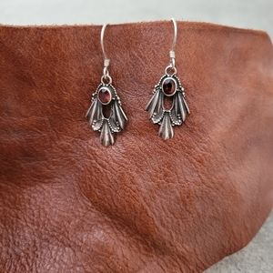 Sterling Silver and Semi-precious Stone Earrings
